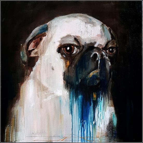 Carlino Canvas Mixed media Animals