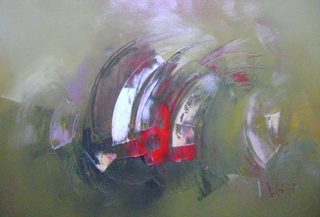 el rastre rojo Canvas Landscaping Oil
