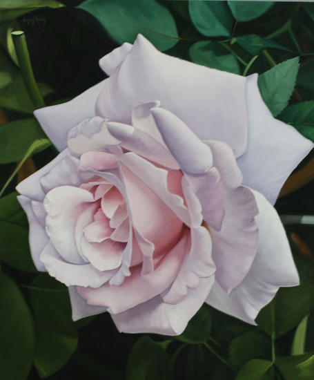 Rosa I Tabla Óleo Floral