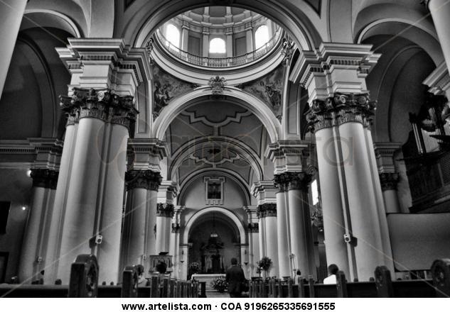 Catedral primada Blanco y Negro (Digital) Arquitectura e interiorismo