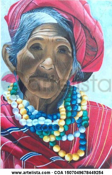 India maya Lienzo Óleo Retrato