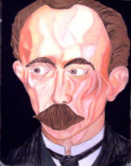 Jose Marti es Jose Marti 2 Pastel Paper Portrait
