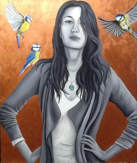 Alejandra Tabla Óleo Retrato