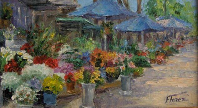 puestos de flores