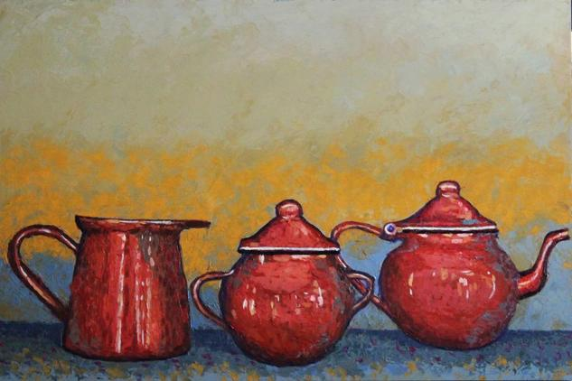 Cacharros de la abuela Still Life Paintings Oil Panel
