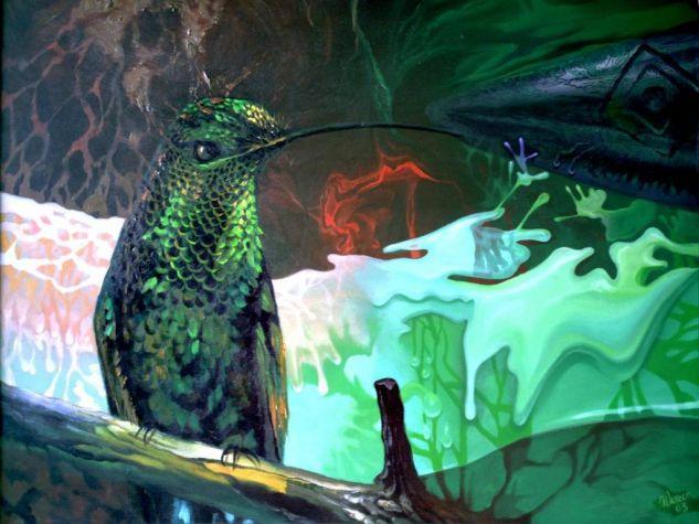 Guaní, principio creador Óleo Lienzo Animales