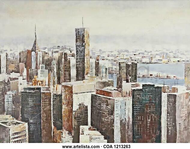 New York Otros Óleo Lienzo