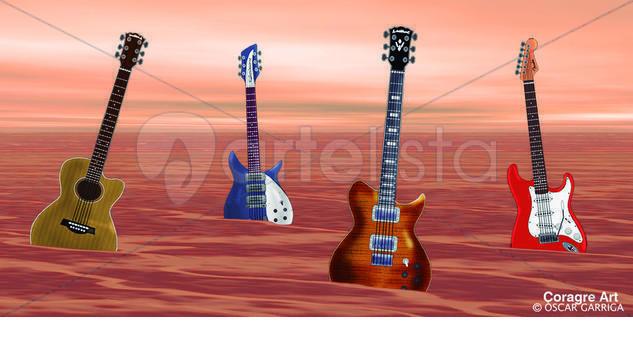 4 Guitarres Técnica Mixta