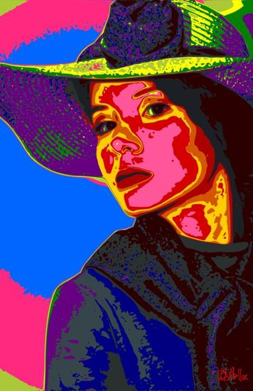 Mujer con Sombreo