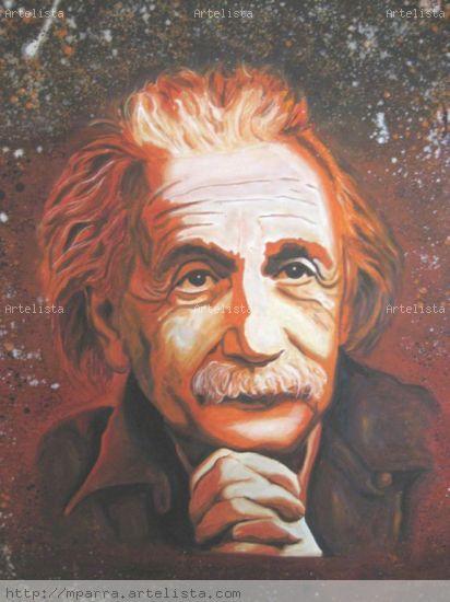Einstein, voces sabias. Media Mixta Lienzo Figura
