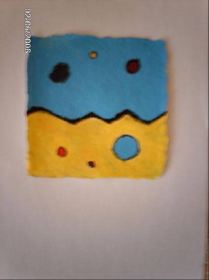 de amarillo a azul Acrílico Lienzo