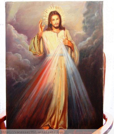 Jesús un regalo Tela Óleo Paisaje
