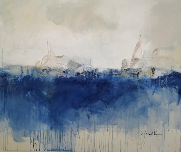 La otra marina Marine Painting Acrylic Canvas