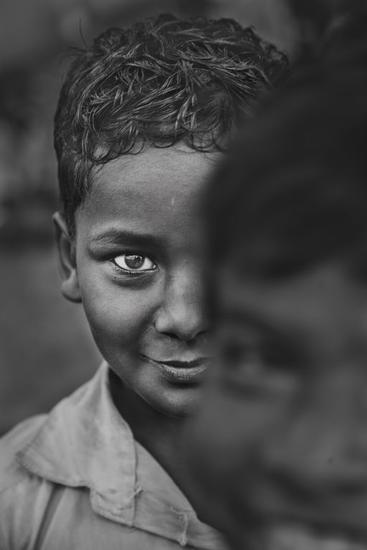 India #2 Retrato Blanco y Negro (Digital)