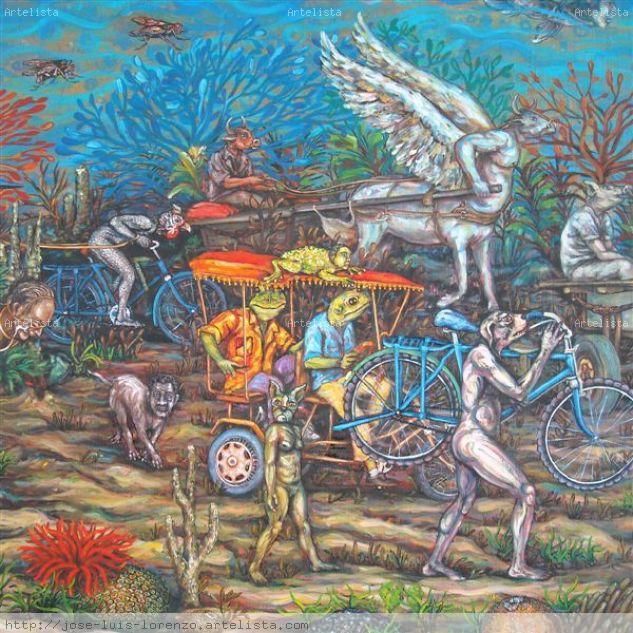 El milagro de Moisés, Detalle Lienzo Óleo Animales