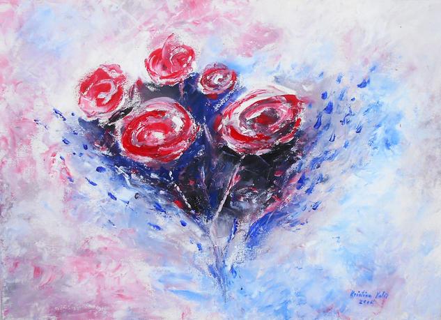 Roses Floral Acrílico Lienzo