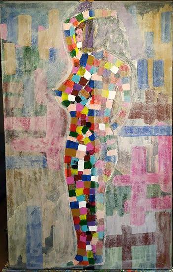 Femme collage Figura Lienzo