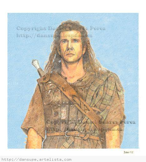 Braveheart Paper Pencil (coloured) Figure Painting