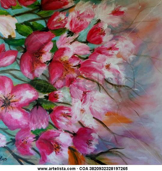 La primavera Lienzo Acrílico Floral