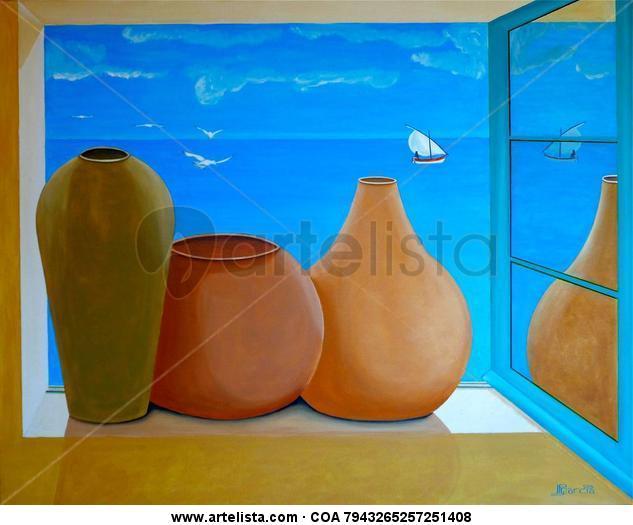 La Fenêtre sur la Mer Lienzo Acrílico Paisaje