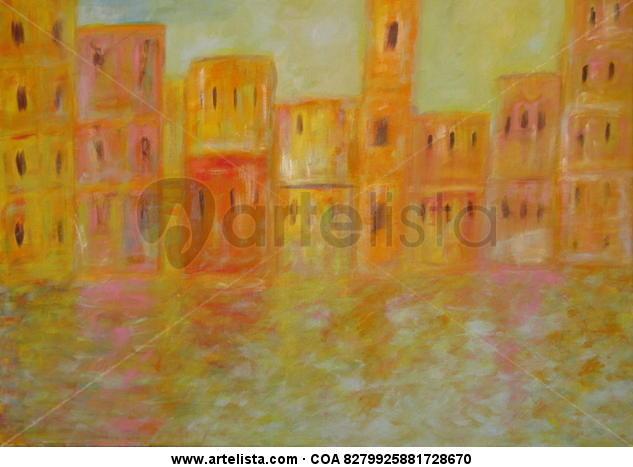 City sea Lienzo Acrílico Paisaje
