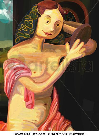 Joven desnuda frente al espejo Otros Otros Otros