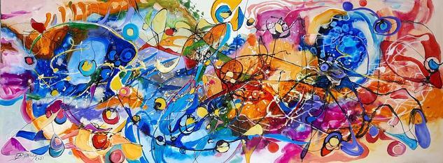 Abstract , original art Bissinger Otros Óleo Lienzo