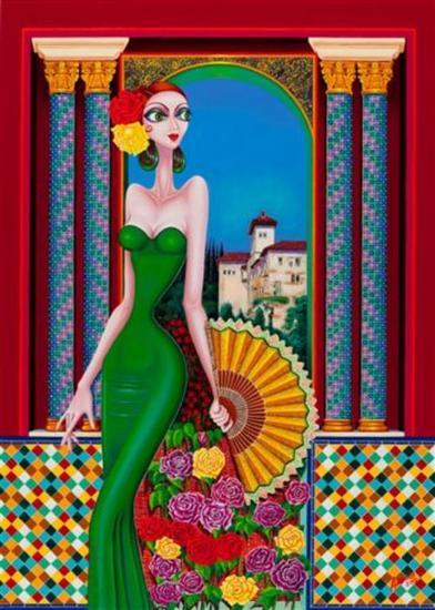 Esmeralda Figura Óleo Lienzo