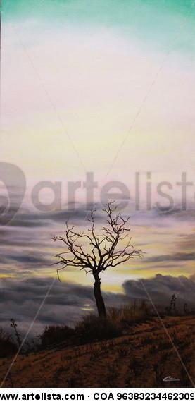 el árbol seco de Wamba 1 Lienzo Óleo Paisaje