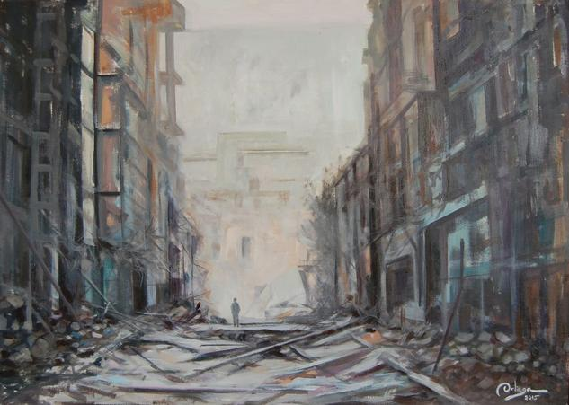 ruinas Siria1 Tabla Óleo Otros
