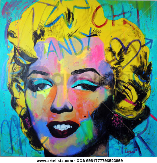 La Marilyn Canvas Oil Portrait