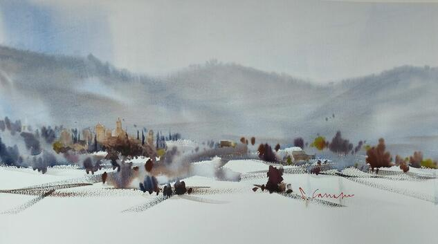 Vimbodí i Poblet Landscaping Watercolour Paper