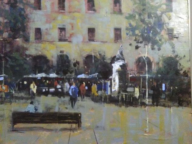 Plaça de la independencia,Girona. Landscaping Canvas