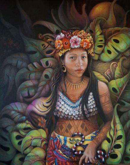 Wandra Lienzo Óleo Retrato