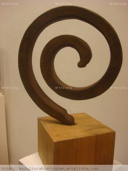 espiral Hierro Abstracta