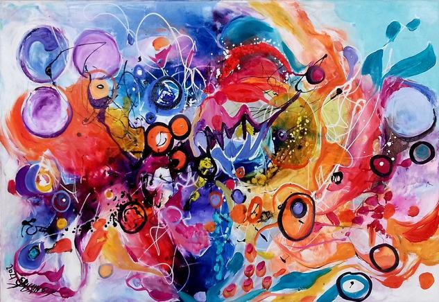 Oil paintings on canvas. Abstract style Otros Óleo Lienzo
