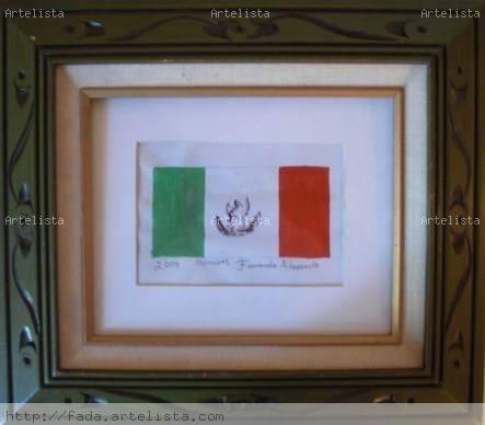 mi bandera mexicana Gouache Papel Otros