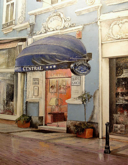 Hotel Central-Santander Landscaping Oil Canvas