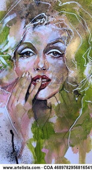 Marilyn. Lápiz