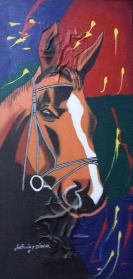 Mi caballo Canvas Others Animals