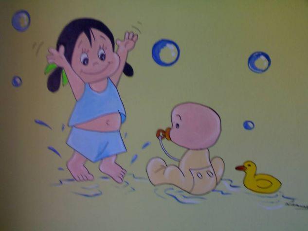 Pintura decoratiava habitaci n infantil m jos rodriguez - Pinturas habitacion infantil ...
