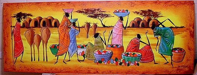 mercado africano J.R. Hellman - Artelista.