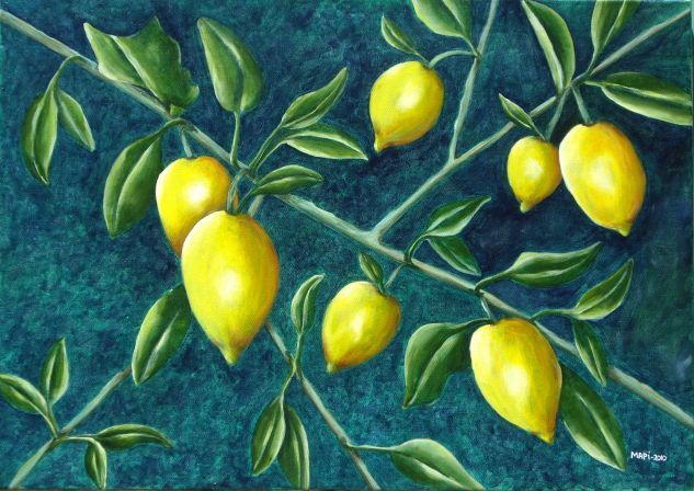 Limones Acrílico Lienzo Paisaje