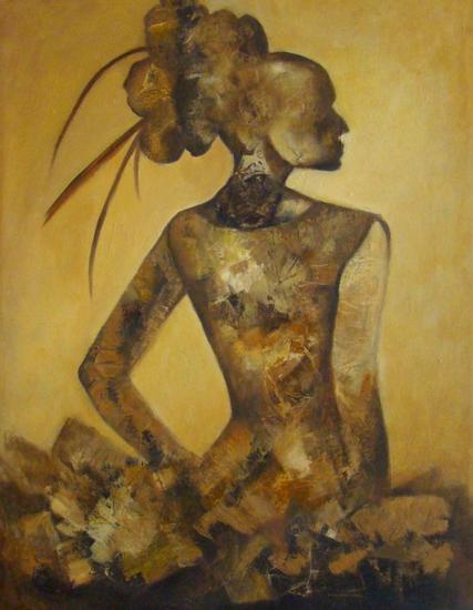 Mujer en sepia Figura Óleo Lienzo