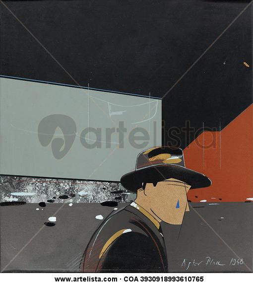 Astor Place 1948 Retrato Tinta Otros