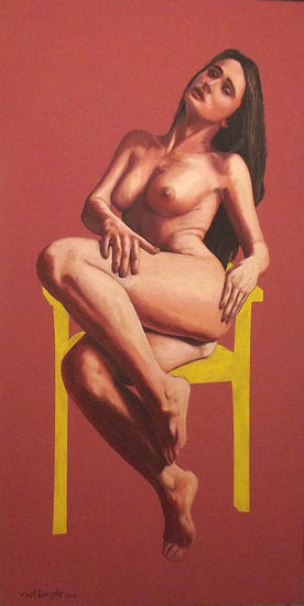 Adagio Mixed media Nude Paintings Canvas