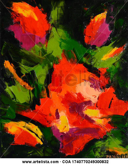 Rosas IV Lienzo Óleo Floral