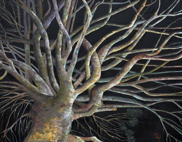 Arbol de vida. Landscaping Oil Canvas