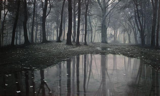 Bosque  Paisaje Óleo Lienzo