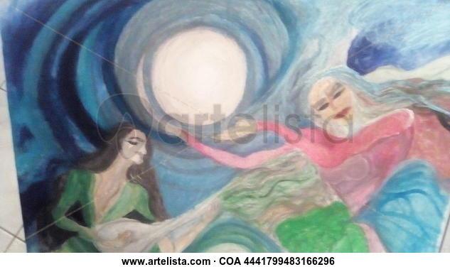Las mujeres cantantes  Figura Acrílico Lienzo
